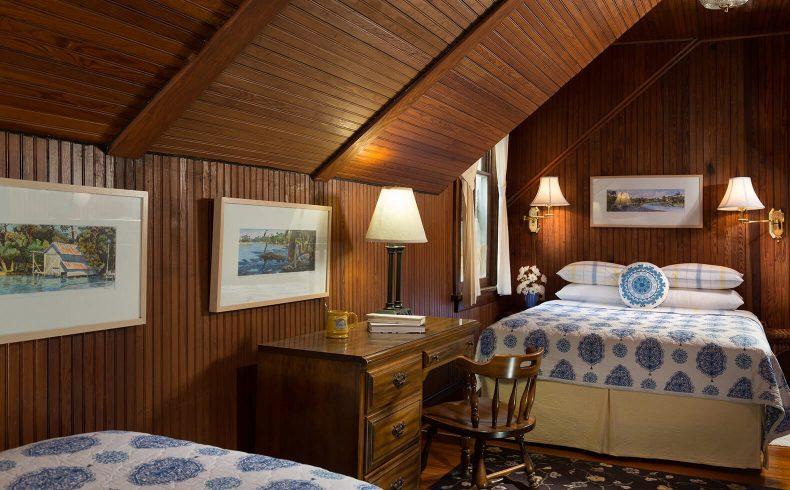 Cowen Room bed at our romantic B&B near Fairhope, Alabama