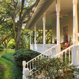 Our Magnolia Springs B&B front porch stairs