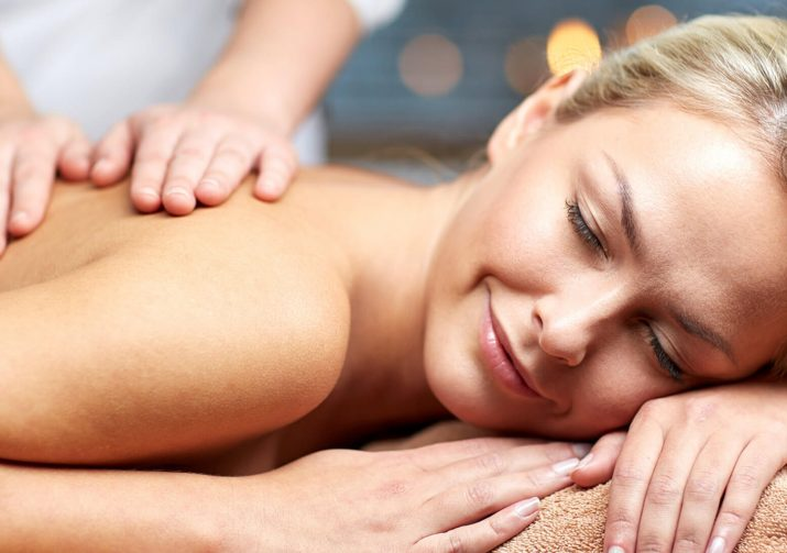 Woman enjoying a massage