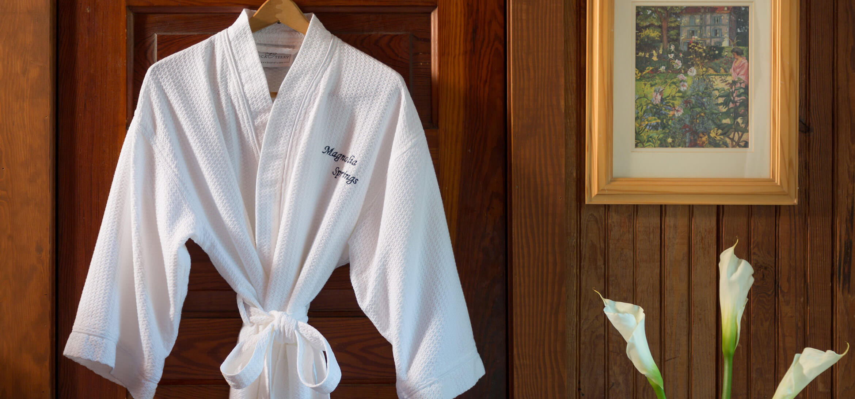 Worthington Room robe at our Magnolia Springs B&B