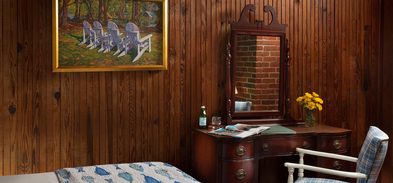 Worthington Room desk at our B&B near Fairhope, AL