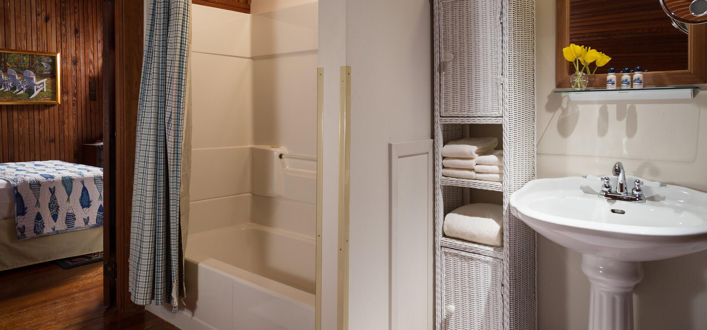 Worthington Room bathroom at our Fairhope, AL bed and breakfast