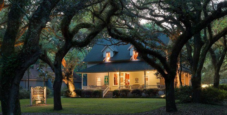 Magnolia Springs exterior at night