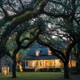 Exterior view of our Bed and Breakfast Near Mobile, Alabama at night