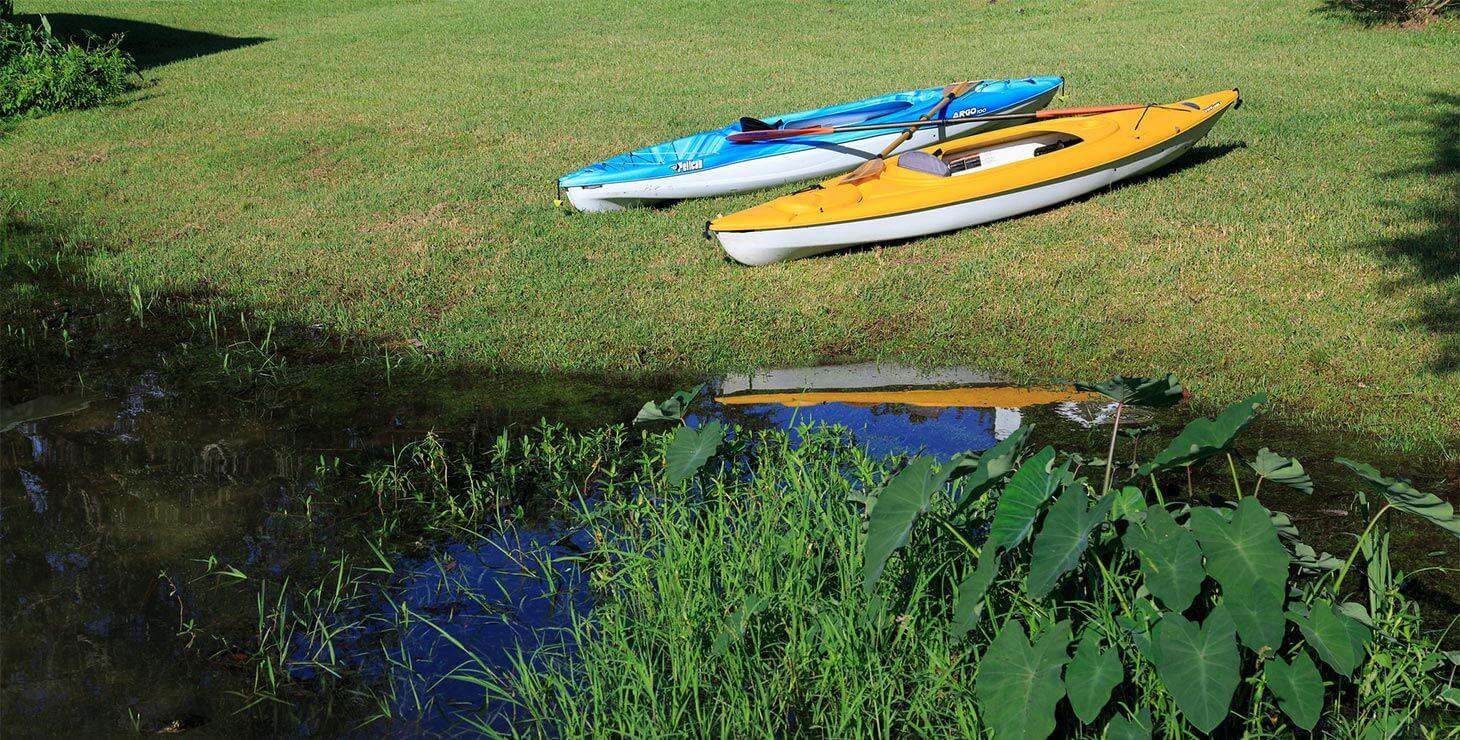 Kayaks at our Inn near Fairhope, AL