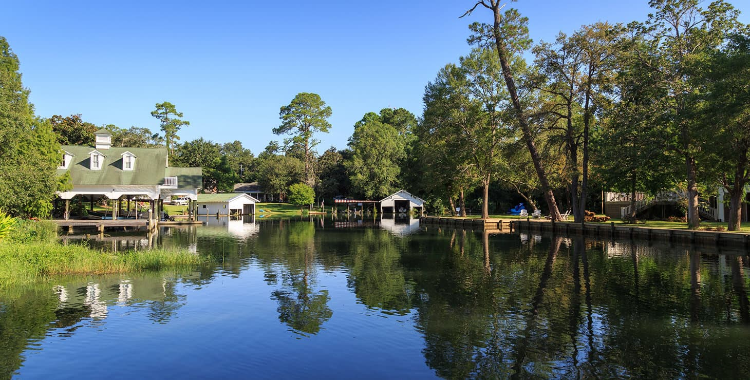 River view in Magnolia Springs, AL
