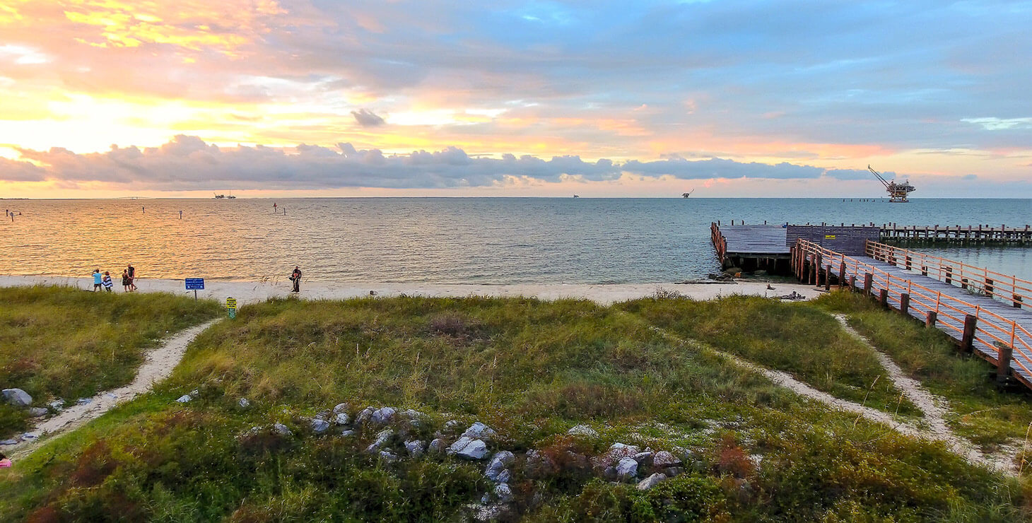 Top Gulf Shore Activities - Sunset view at Fort Morgan