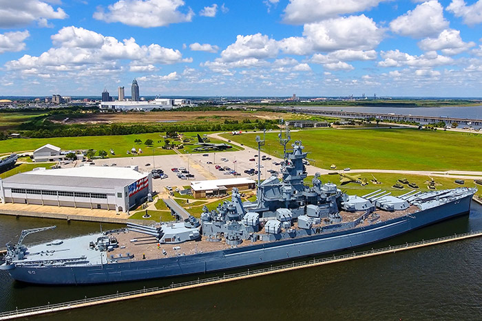 USS Alabama located near our Mobile, AL bed and breakfast