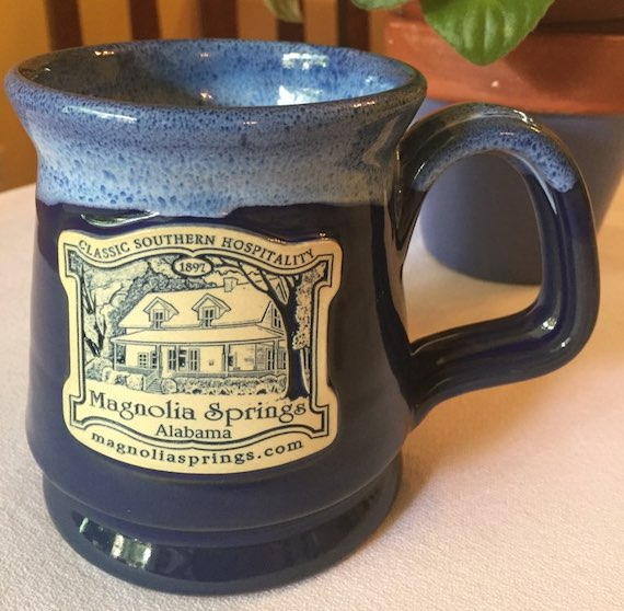 Blue Mug with Magnolia Springs logo