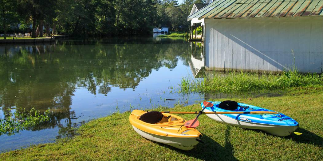 Kayaks at Magnolia Springs