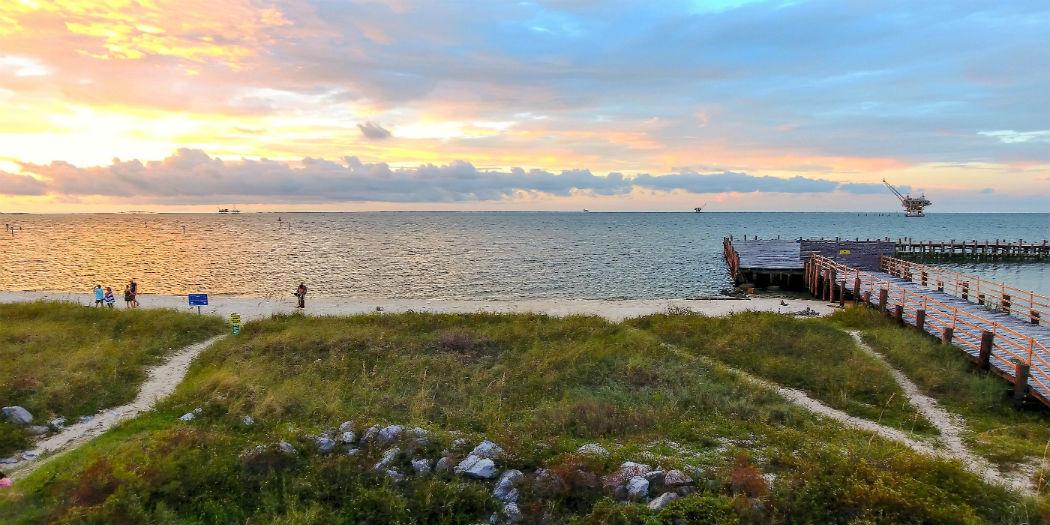 Sunset at Fort Morgan