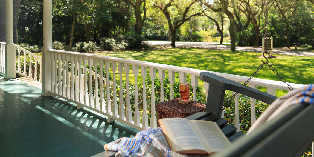Swing on the front porch with a glass of tea and a book