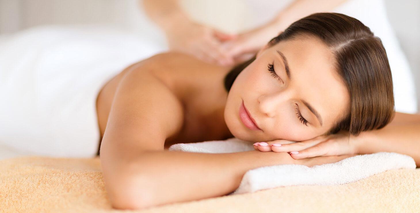 Woman getting a massage at Alabama hotel