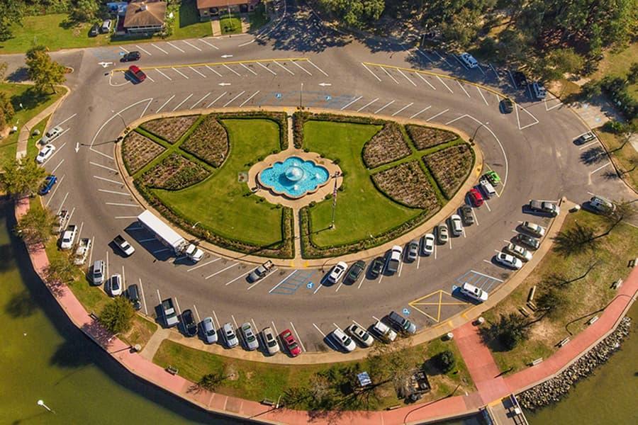 Circle parking lot