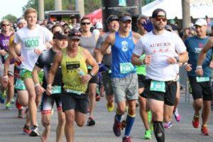 Runners at the Annual Vacasa Coastal Half Marathon, 5k and One Mile run
