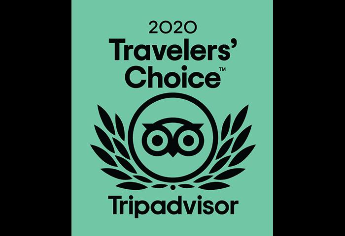 Tripadvisor 2020 Travelers' Choice Award