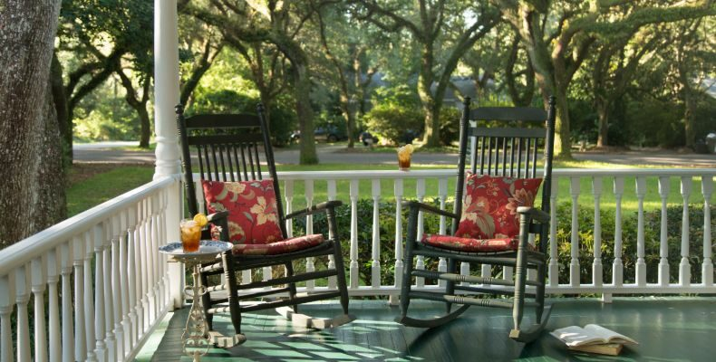 Magnolia Springs Bed and Breakfast Porch Chairs