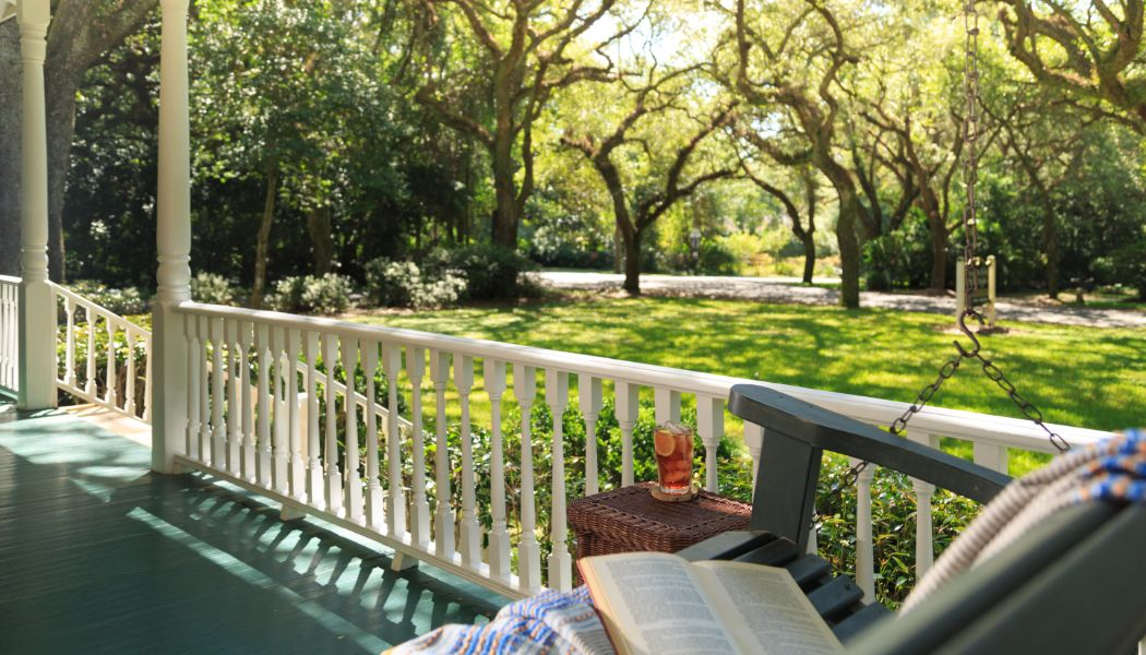 Porch Swing at Magnolia Springs Bed and Breakfast