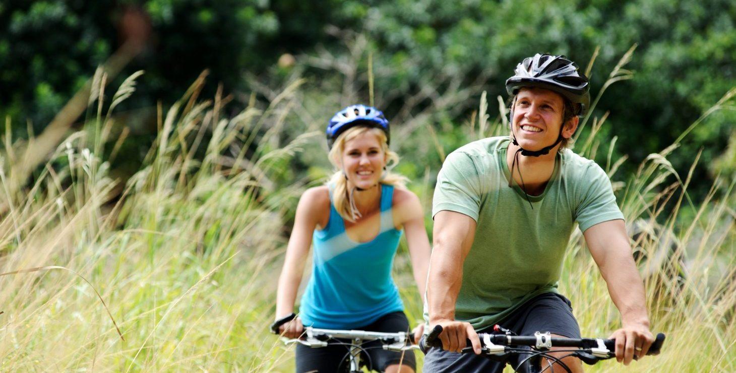 a couple on a biking getaway to Alabama's Gulf Coast